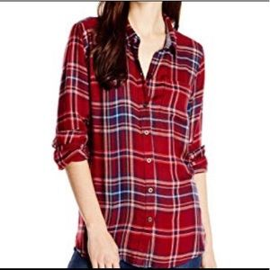 Lucky Brand Bungalow Red Plaid Shirt